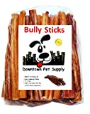 6'' BULLY STICKS - Free Range Standard Regular Thick Select 6 inch, by Downtown Pet Supply (100 Pack)