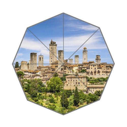 Beautiful Italy City Art Custom Unique Durable Custom Foldable Umbrella by CustomLittleHome