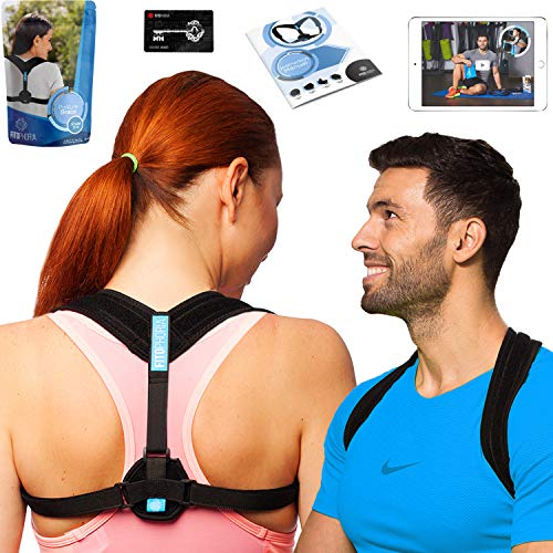 Effective Posture Corrector for Women and Men - Comfortable Back Posture Brace for Prevent Slouching and Hunching - H.O.B Posture Correct Brace by Fitophoria (Posture Corrector with Free Ebook)