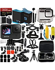 $519 » GoPro HERO9 (Hero 9) Action Camera (Black) with Premium Accessory Bundle – Includes: SanDisk Extreme Pro 64GB microSD Memory Card, Spare Battery, Underwater Housing, Carrying Case, & Much More