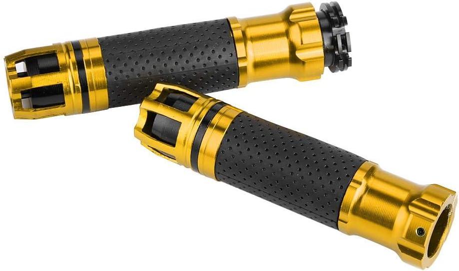 Oro Empu/ñaduras de Motocicleta 1 Par 22 mm Pu/ños de Manillar de Moto Giratorias Antideslizantes Modificadas para Motocicleta CNC