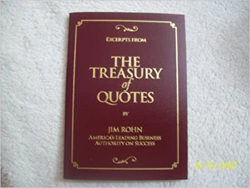 Excerpts from the Treasury of Quotes: Amazon.es: Rohn, Jim ...