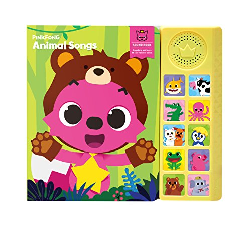 Pinkfong Children'S Animal Songs Sound Book, Green/Yellow, 8.7