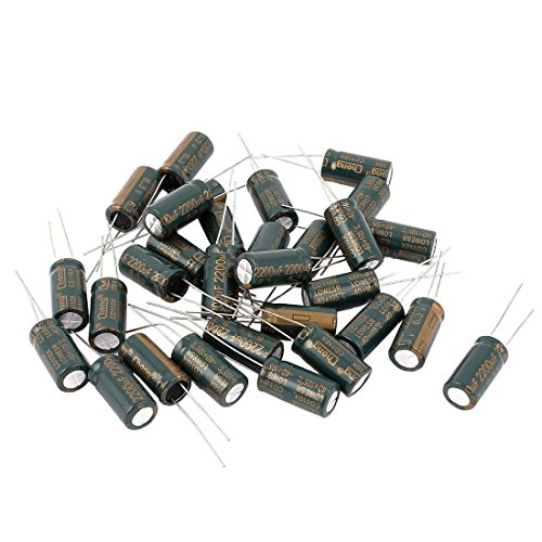 (Radial Lead Electrolytic Capacitor - SODIAL(R) Radial Lead Electrolytic Capacitor 105C 2200uF 6.3V 10 x 20mm 30pcs)