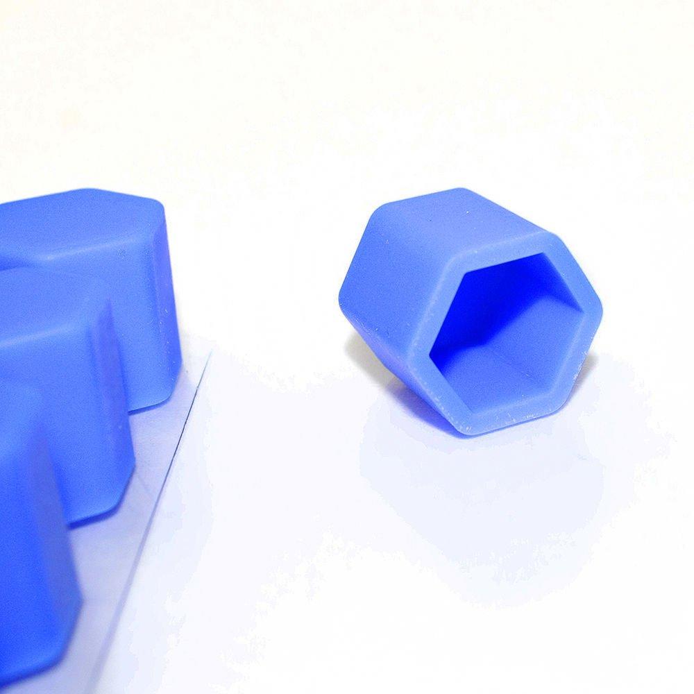 blau 20/Kappen aus Silikon Auto Rad Hub 17/mm Muttern Felgen B/öckchen Schrauben Schraube Rost H/üllen