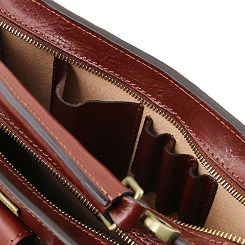 Tuscany Leather - Tania - Borsa a mano in pelle da donna - Misura grande Rosso - TL141269/4 Miele