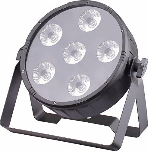 (JMAZ LP66S Crazy Par Hex 6 LEDs 6in1 RGBWA+UV Par Light for DJ Stage Wedding Party Uplighting)