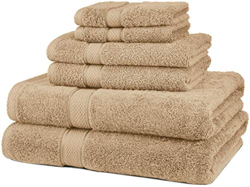 Pinzon 6 Piece Blended Egyptian Cotton Bath Towel Set - Driftwood