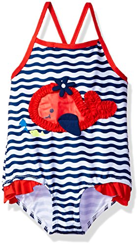 Wippette Baby Girls Whale Swimsuit