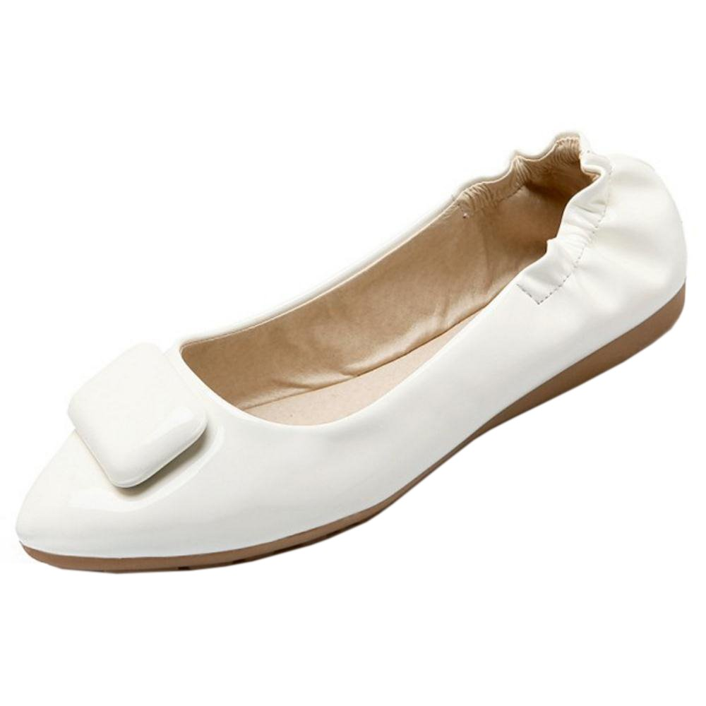TAOFFEN Womens Spring Loafers Flat Shoes