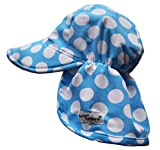 Flap Happy Baby Girls' Upf 50+ Swim Flap Hat,Medium,Bermuda Blue Punch