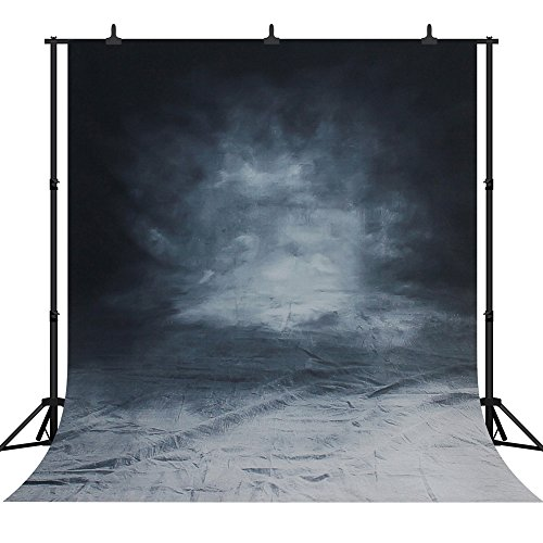 DePhoto 10x10Ft Halloween Retro Pattern Art Smoky Grey Thin Seamless Vinyl Photography Backdrop Photo Background Studio Prop PGT001
