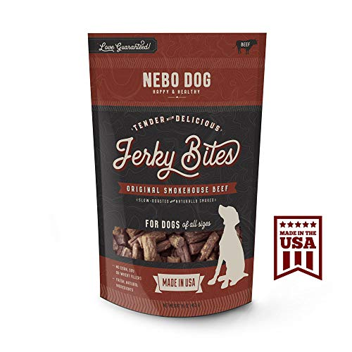 American Beef Jerky - Nebo Dog Tender Jerky Bites Made in USA. Healthy & Delicious 1