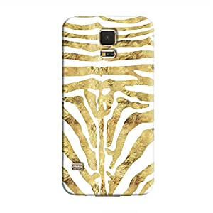 Cover It Up - Brown Zebra White Galaxy S5 Hard Case