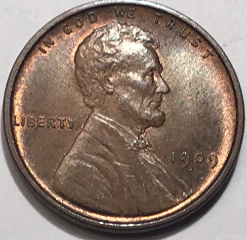1909 lincoln Wheat Cent VDB Penny Brilliant Uncirculated 1909 Lincoln Cent