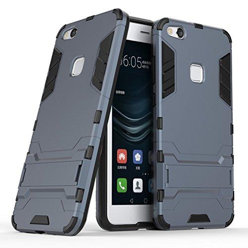 Funda Para Huawei Y6 Pro 2017 , Guran® Alta calidad cáscara del teléfono manguito protector bicapa mixto resistente a los golpes anti-deslizamiento TPU+PC (Azul) Azul oscuro