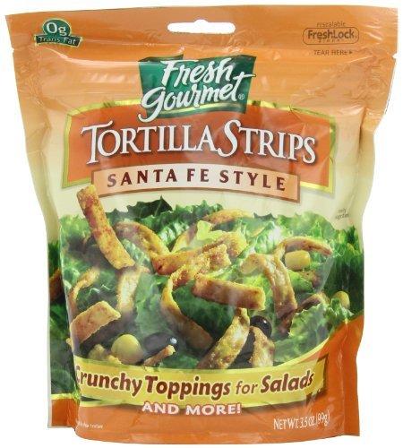 (Fresh gourmet Tortilla Strips, Santa Fe Style, 3.5-Ounce (Pack of 9) by Fresh Gourmet)