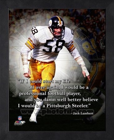 Jack Lambert Pittsburgh Steelers Framed ProQuote for sale  Delivered anywhere in USA