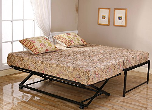 39'' / Twin Size Black Metal High Riseer Bed Frame With Pop...