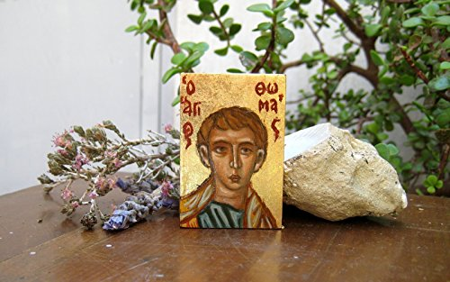 rine home altar carry on icon of the Saint Thomas and Apostle of India (Hand Painted Icon)