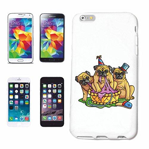"""cas de téléphone iPhone 7S """"MOPS FAMILY DOG ELEVAGE MAISON CHIENS KENNEL ÉLEVEURS PUPPY FORMATION CARE"""" Hard Case Cover Téléphone Covers Smart Cover pour Apple iPhone en blanc"""