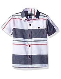 French Toast baby-boys Baby Short Sleeve Woven Poplin Shirt