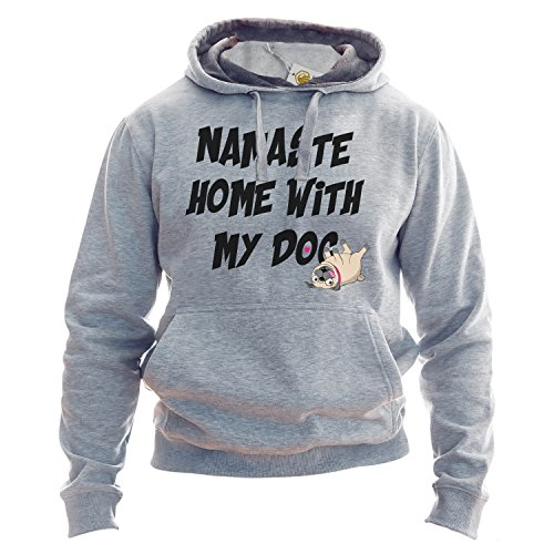 Dog Lover Hoodie Namaste Home With My Dog Funny Introvert Hindu Pullover