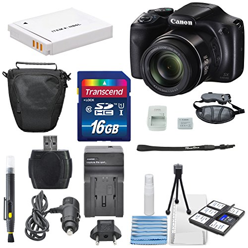 Canon PowerShot SX540 IS Wi-Fi Enabled Digital Camera and Deluxe Accessory Bundle Including 16 GB SDHC + Zoom Protector Case + Table Tripod + AC/DC Turbo Travel Charger + along with a Deluxe Bundle