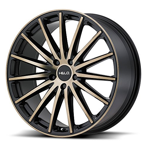 HELO HE894 Satin Black Dark Tint Wheel Chromium (hexavalent compounds) (17 x 7.5 inches /5 x 72 mm, 40 mm Offset)