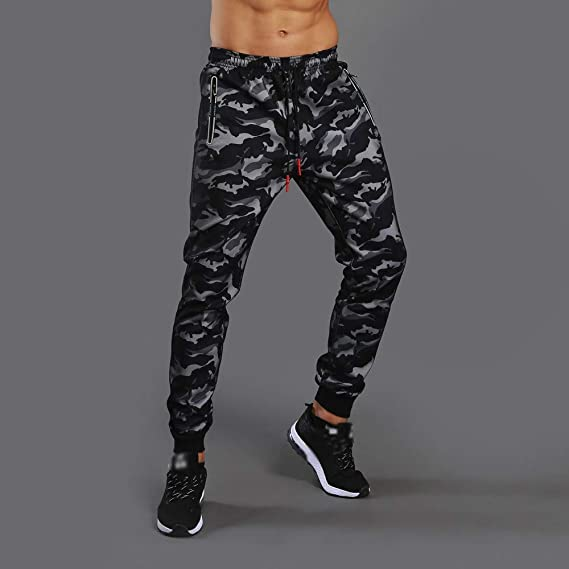 SMALLE ◕‿◕ Clearance, Men Camouflage Pocket Overalls Casual Pocket Sport Work Casual Trouser Pants at Amazon Mens Clothing store: