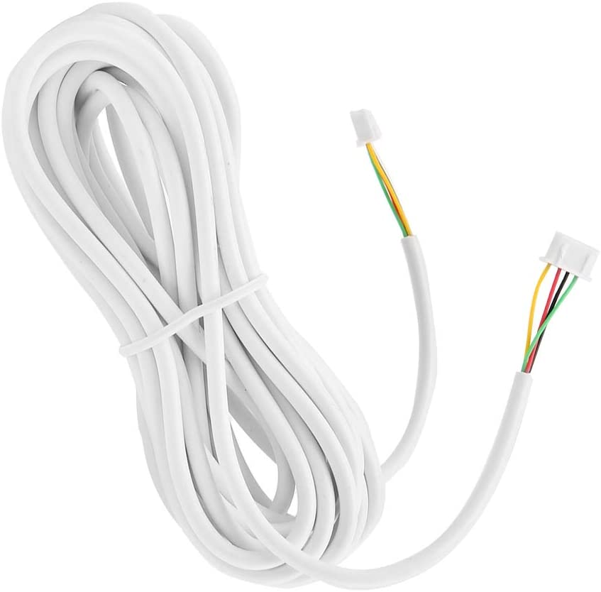 Cable Redondo Alambres El/éctricos para Casa Cable de Extensi/ón de Cable Intercomunicador Cable de 4 Hilos Compatible con Videoportero
