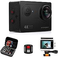 FITFORT Action Camera 4K WiFi Ultra HD Waterproof Sport...