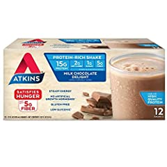 Enjoy the sweet and creamy taste of Atkins Milk Chocolate Delight Protein-Rich Shakes and give your body the steady energy it needs. Packed with essential vitamins and minerals, 15 grams of protein and 1 gram of sugar per bottle, our shakes k...