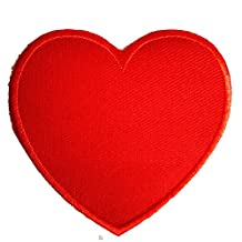 Iron on patches - heart love - red - 7,5x7,5cm - Application Embroided patch badges