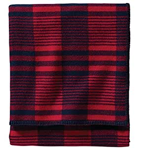 Pendleton Easy Care Bed Blanket, King, Cardinal Contempo