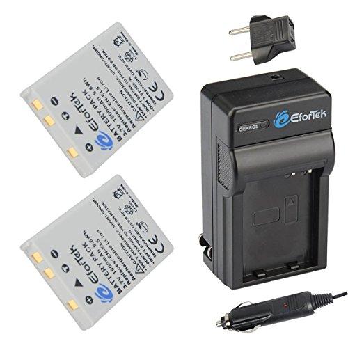 EN-EL5 EforTek Battery (2-Pack) and Charger Kit for Nikon CoolPix P530, P520, P510, P100, P500, P5100, P5000, P6000, P90, P80, 4200, 5200, 5900, 7900, P3, P4, S10 Cameras,100% Compatible with Original