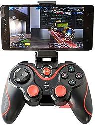 booEy Wireless Bluetooth Gamepad für Android und PC Controller + Smartphonehalter