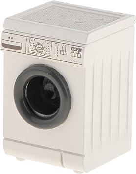 1:12 Bambola Miniatura Lavatrice Gettoni Elettrodomestici Coperchio Aprabile