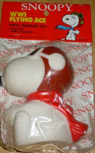 vintage-peanuts-snoopy-world-war-i-flying-ace-pilot-squeak-squeeze-toy