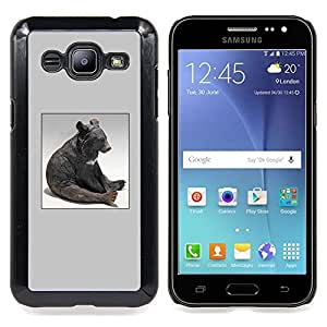 - Bear Sitting Statue Modern Art Animal Forest - - Snap-On Rugged Hard Cover Case Funny HouseFOR Samsung Galaxy J2