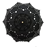 Handmade Black Lace Parasol Umbrella Wedding Bridal 30 Inch Adult Size