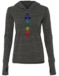 Yoga Clothing For You Ladies Colored Chakras Tri-Blend Hoodie