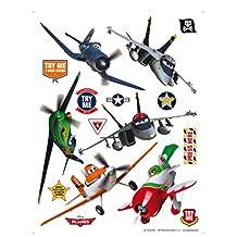 Planes Poster-Sticker Wall-Tattoo - Dusty, Risplinger, El Chupacabra, Skipper, Echo And Bravo (34 x 26 inches)