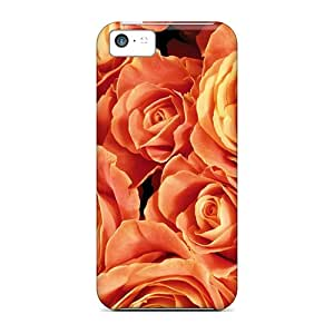 New Arrival Case Cover With Aorqy45516JFUef Design For Iphone 5c- Orange Roses