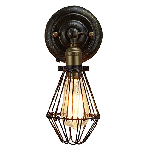 CLAXY Ecopower Industrial Opening and Closing Light Wall Sconce -1 Pack
