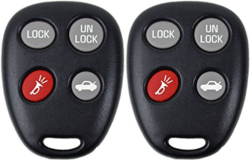 Car Saturn - KeylessOption Keyless Entry Remote Fob Control Car Key Replacement for LHJ009 (Pack of 2)