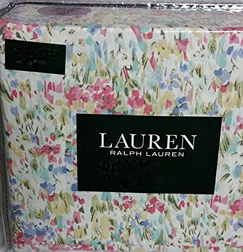 (Ralph Lauren Impressionist Watercolor Floral Sheet Set King)