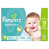 Baby : Pampers Baby Dry Diapers, Size 4, 144 Count