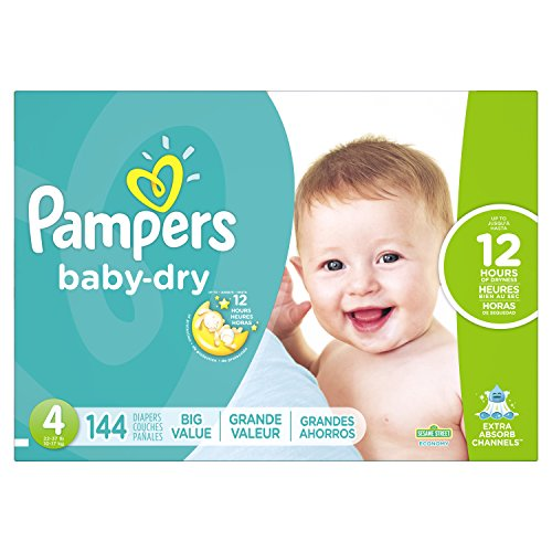 Pampers Baby-Dry Disposable Diapers Size 4, 144 Count, ECONOMY by Pampers