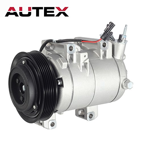 AUTEX AC Compressor & A/C Clutch CO 11200C 98490 Replacement for Nissan Rogue 2008 2009 2010 2011 2012 2013 2.5L